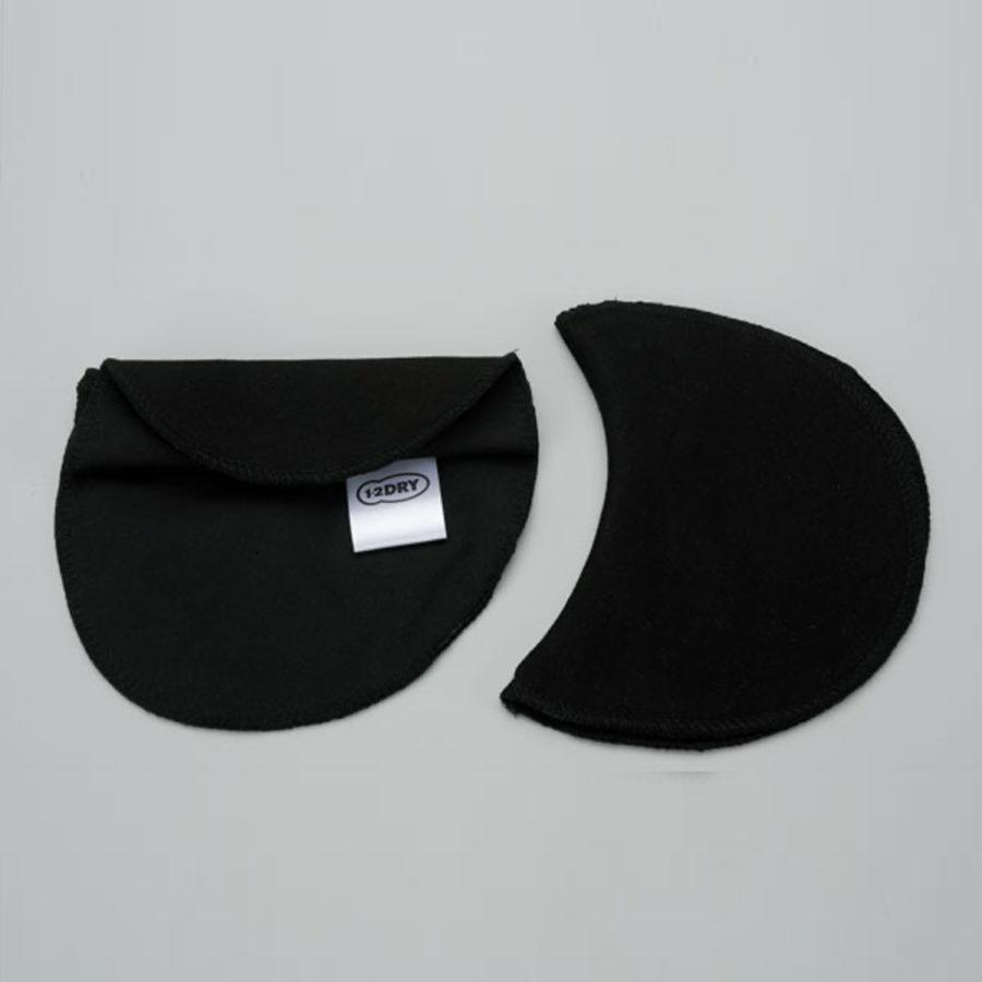 Pads 2 waschbare schwarze Pads